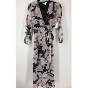 NEW Bar 111 Size XXS Falling Floral Wrap Dress $89